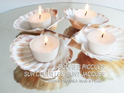 4 Picculis Candles fragrance PARFUM MER